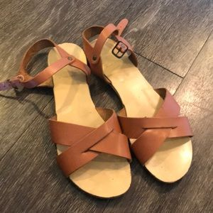 Leather sandals, made in Italy, free people